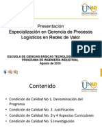 Presentación Especialización Industrial