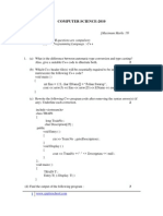 Computer Science 2010 Question Paper