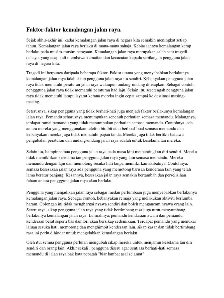 essay tentang jerebu
