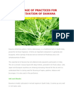 Package of Practices for Cultivation of Dawana