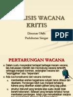 ANALISIS WACANA KRITIS