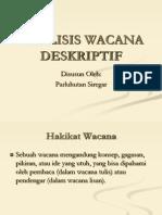 ANALISIS WACANA DESKRIPTIF