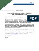Comunicado - PR - Restablece Servicios