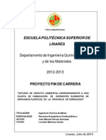 ESTUDIO DE IMPACTO AMBIENTAL CORRESPONDIENTE A UNA PLANTA DE FABRICACIÓN DE DIFERENTES ELEMENTOS DE DERIVADOS PLÁSTICOS EN LA PROVINCIA DE TARRAGONA