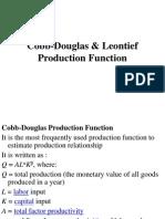 Cobb-Douglas & Leontief Production Function