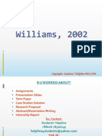 Williams, 2002 Solution