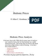 Hedonic Prices