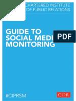 CIPRSM Guide to Social Media Monitoring