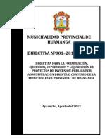 Directiva Final de Proyectos de Inver
