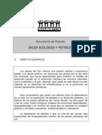 DEUDA ECOLÓGICA Y PETRÓLEO