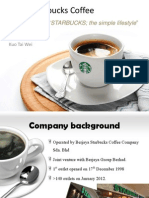 Starbucks Coffee Advertisement Proposal