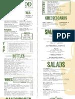 Boxwood Tap & Grill menu