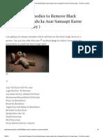 Two Simple Remedies to Remove Black Magic (Kaale Jaadu Ka Asar Samaapt Karne Ke Do Asaan Upay) ~ the Astro Junction