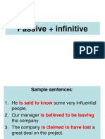 1035Passive Plus Infinitive Constructions