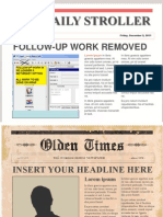 Newspaper Headlines Templates