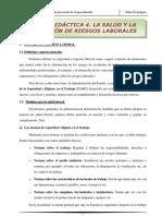 Tema-4 La salud y la  prevención de riesgos laborales