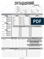 World of Darkness Character Sheet