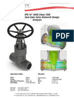 "NPS 18"" ANSI Class 1500 Pressure Seal Gate Valve Walworth Design"