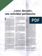 El Discurso Docente, Una Actividad Persuasiva