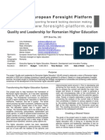EPF Brief No. 242 Quality and Leadership for Romanian Higher Education