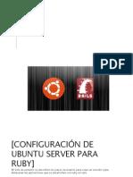 Manual Ruby Ubuntu Server