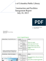Document #9C.1 - Capital Projects and Facilities Managment Report