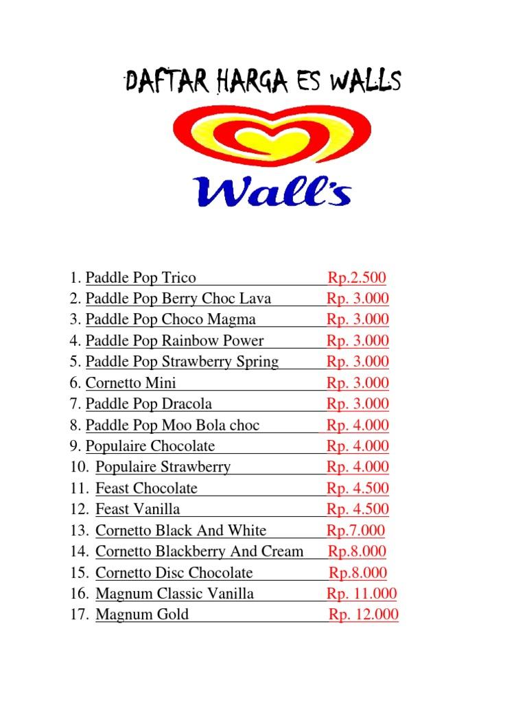 daftar harga es walls