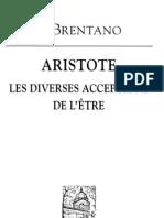 Brentano - Aristote les catégories