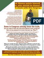 Washington Times Advertorial - Obama ID Fraud  Investigation - 7/22/2013