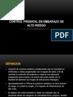 Control Prenatal en Embarazo de Alto Riesgo