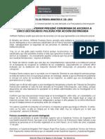 MINISTRO DEL INTERIOR PRESIDIÓ CEREMONIA DE ASCENSO A CINCO DESTACADOS POLICÍAS POR ACCIÓN DISTINGUIDA