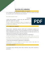 EJERCICIOS DE CONJUNTOS.