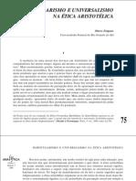 Zingano, Particularismo y universalismo en la ética aristotélica