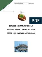 Estudio de la generación electrica desde 1990