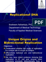 Replecation of DNA