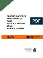 R-016 Recomendaciones Para Vivienda Urbana