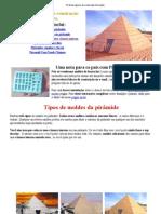 Pirâmide egípcia de construção Instruções