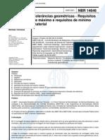 NBR 14646 - Tolerancias Geometricas