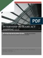 Internship in Trans Act Shipping Llc