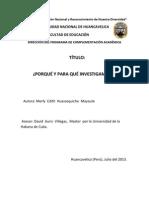Monografia de investigación