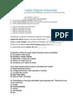 Exercícios sobre Adjunto Adverbial