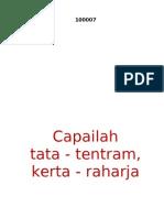 Tjapailah Tata Tentram Kerta Rahardja  - Ir. Soekarno, 17 Agustus 1951