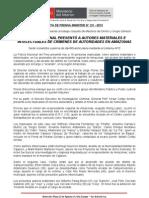 POLICÍA NACIONAL PRESENTÓ A AUTORES MATERIALES E INTELECTUALES DE CRÍMENES DE AUTORIDADES EN AMAZONAS