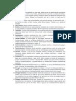 Español. glosario de electricidad