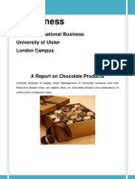 Supply Chain Management of Chocolate Products