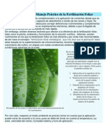 Manejo Práctico de la Fertilización Foliar
