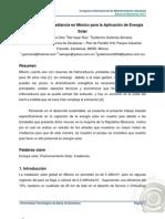 Ponencia 01. Captación de la Irradiancia en México para la Aplicación de Energía Solar