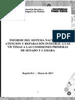 UARIV informe congreso año 2012