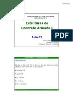 Aula 07 Estruturas de Concreto Armado i 2013 1