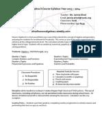 algebra ii syllabus 2013